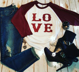 LO VE Baseball Tee -  - Sweet or Spicy Apparel - 4