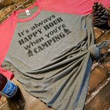 It's always HAPPY HOUR when you're CAMPING Baseball Tee