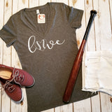 Love Baseball Deep V-Neck Tee