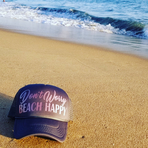 Don't Worry BEACH HAPPY Trucker Hat