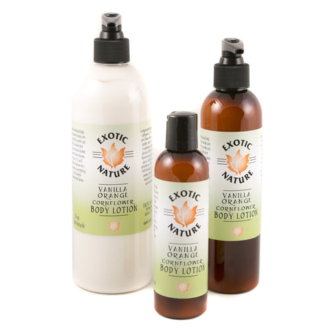 Exotic Nature Vanilla Orange Cornflower Body Lotion