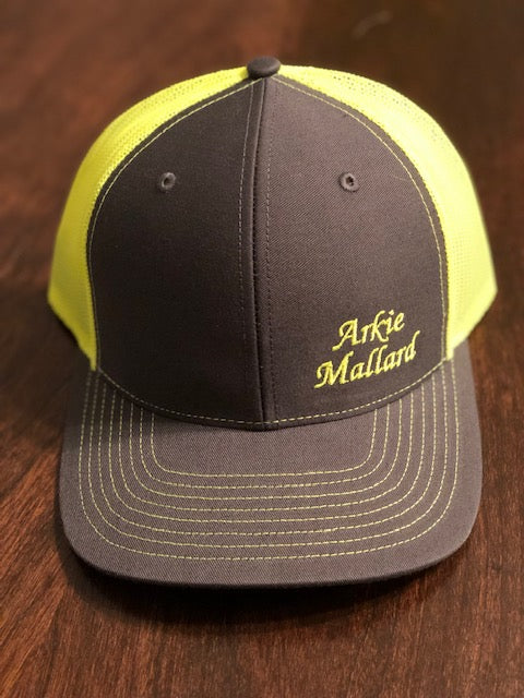 Cap - Charcoal and Neon Yellow