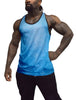 Blue Color Burn Fitness Tank Top