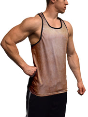 Brown Color Burn Fitness Tank Top