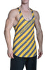 Men's Graphic All Over Print Under Construction Stringer Tanktop