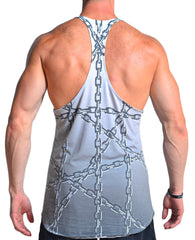 Men's Graphic All Over Print Unchained Stringer Tanktop back