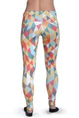 Women's Graphic All Over Print Sahara Yoga Leggings Back