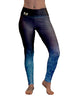 Denim Color Burn Gym Leggings