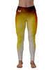 Volition Gold Color Burn Gym Leggings