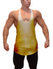 Volition Gold Color Burn Stringer Tank Top