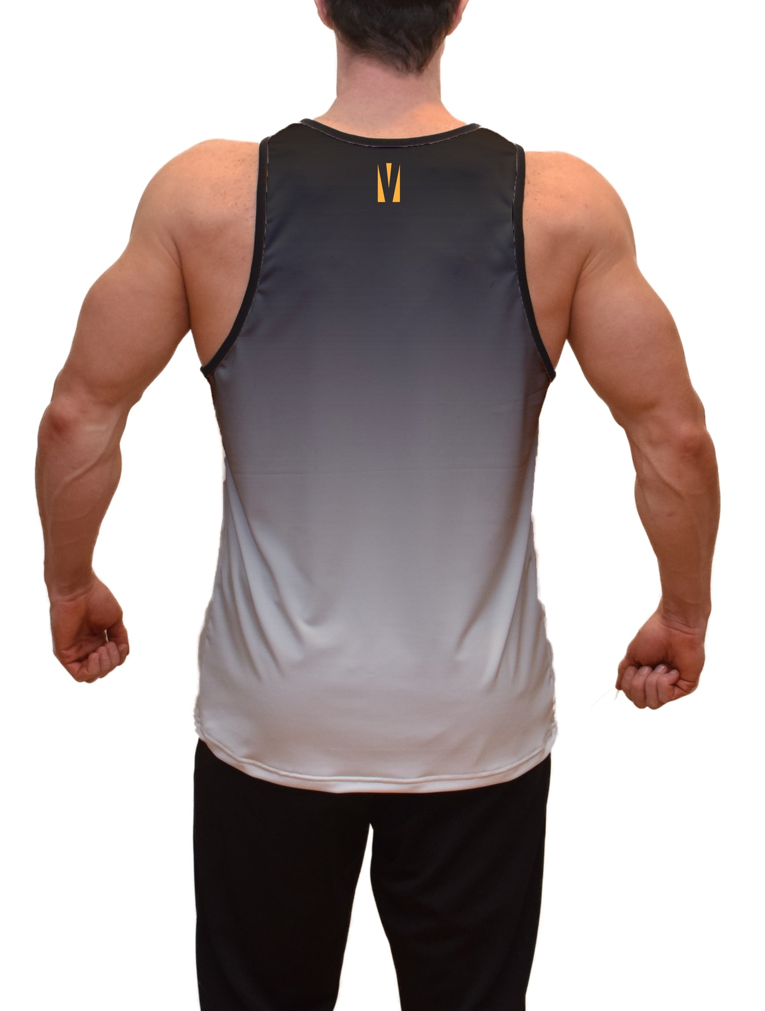 Gray Color Burn Fitness Tank Top