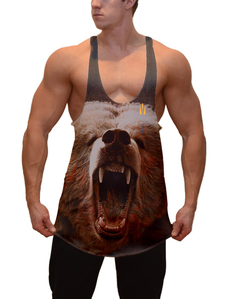 Grizzly Gainz Stringer Tank Top