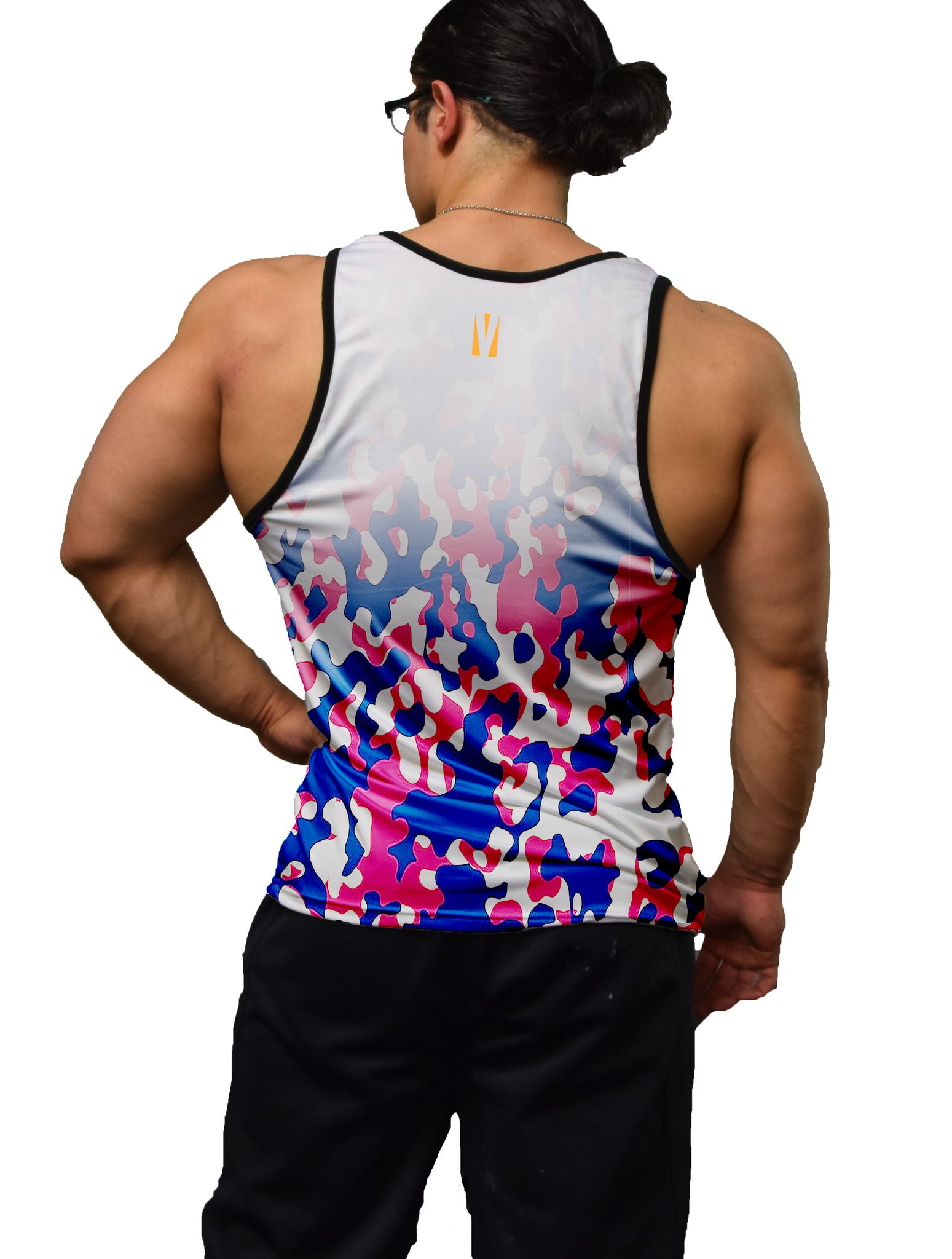 Red White & Blue Camo Fitness Tank Top