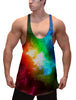 Rainbow Color Burn Stringer Tank Top