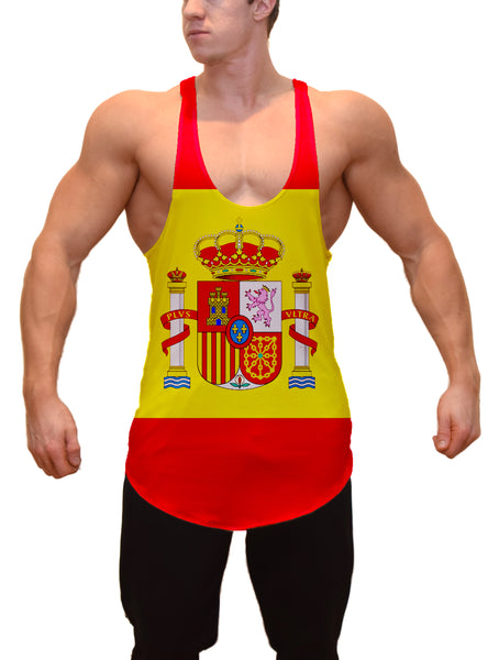 Flag of Spain Stringer Tanktop