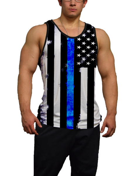 Thin Blue Line Fitness Tank Top