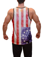US 13 Colonies Flag Fitness Tank Top