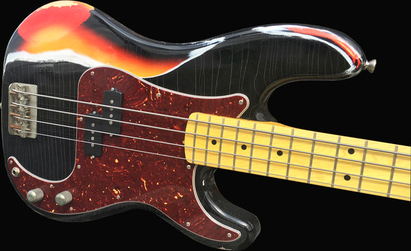 RetroVibe® Number 35 DECISION Bass Black over 3-Tone Sunburst