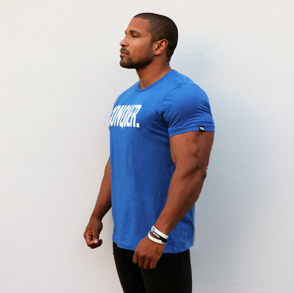Total Alpha CONQUER. Tee - Blue/White