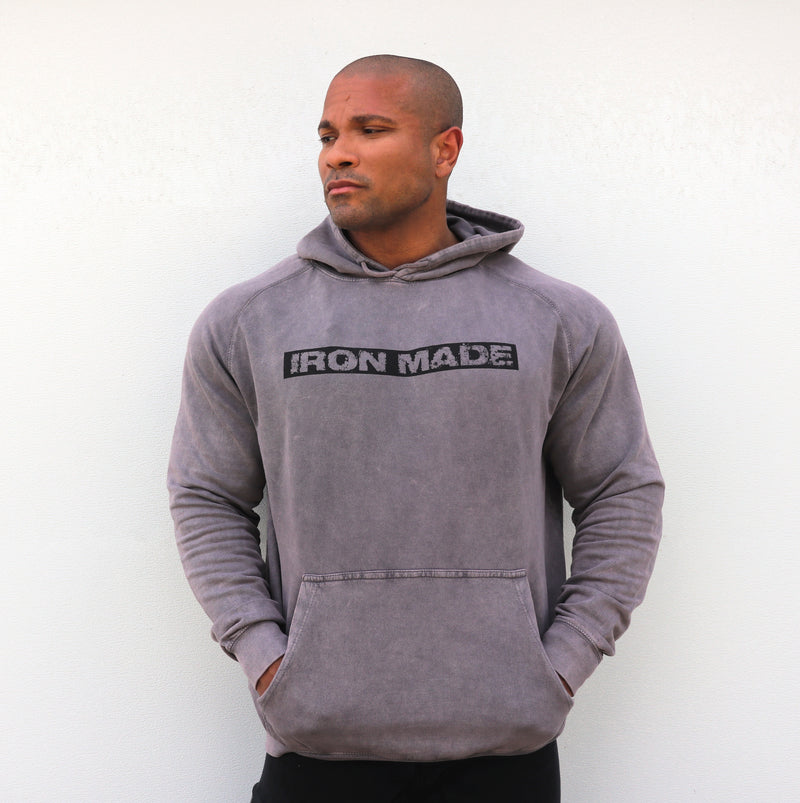 IRON MADE Acid wash hoodie- ZINC