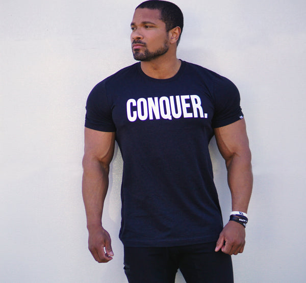 "Total Alpha ""CONQUER"" - Tee-Blended Black"