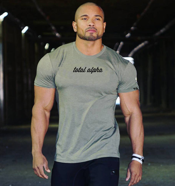 TOTAL ALPHA SIGNATURE TEE-MILITARY GREEN