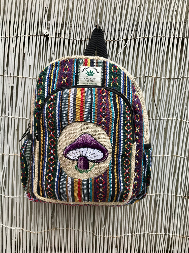 Small Hemp backpack - Mushroom