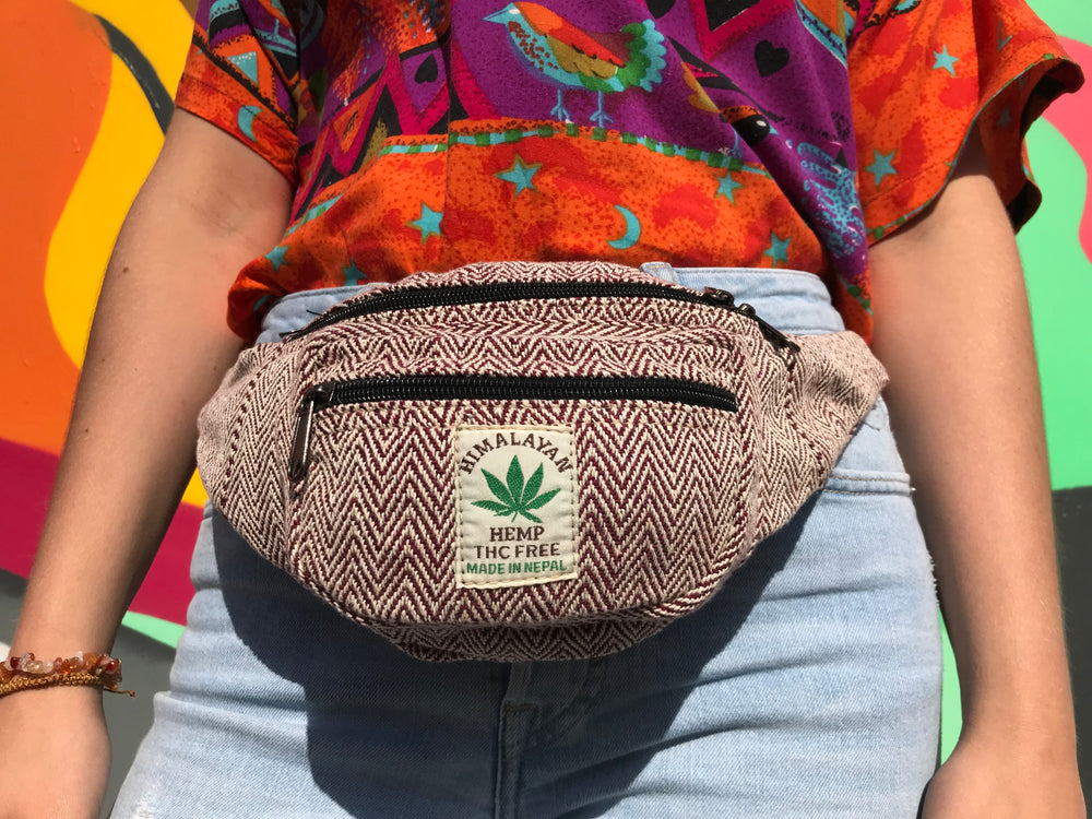 Himalayan Hemp - Money Belt Bag - Red