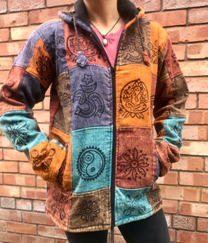 Patchwork Jacket - Blue