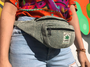 Himalayan Hemp - Money Belt Bag - Green