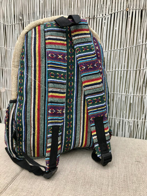 LARGE Hemp backpack - Mushroom