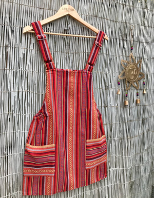 Dungaree Dress - Orange