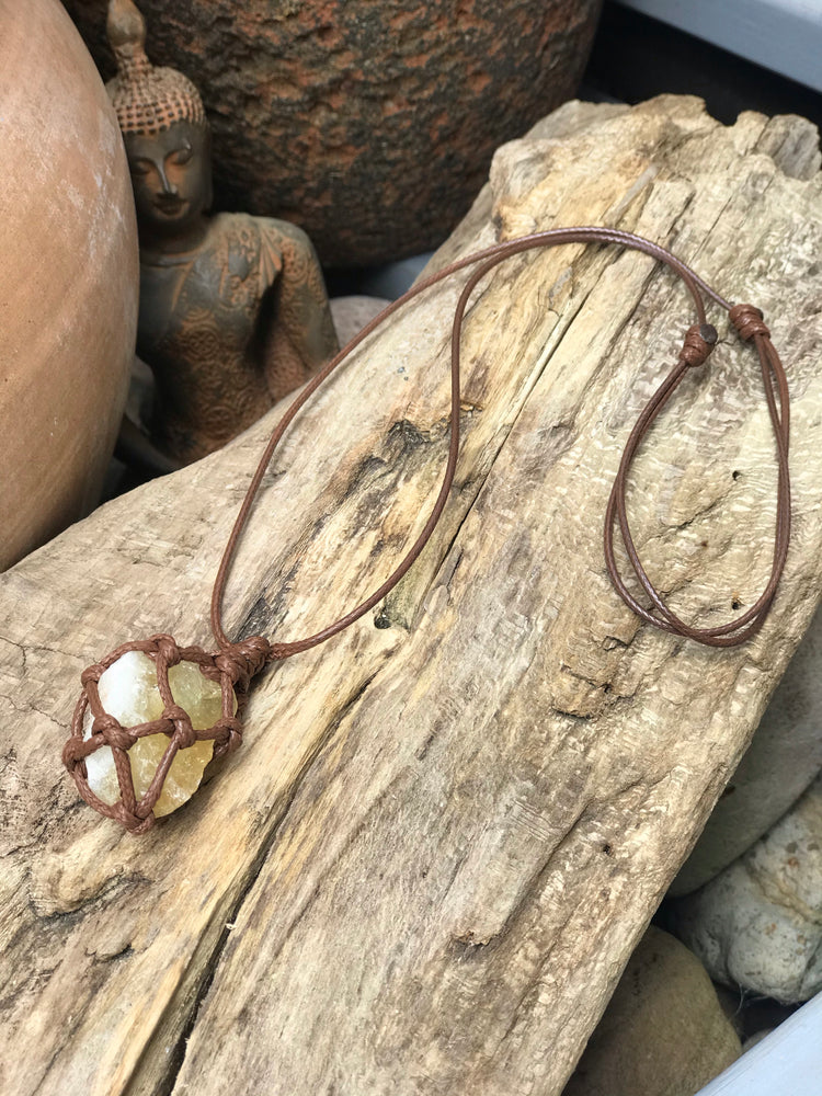 Citrine - Macramé - Necklace