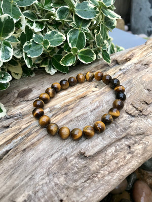 Tigers Eye Bracelet - Tumbled Stone