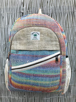 Large Hemp backpack - Rainbow