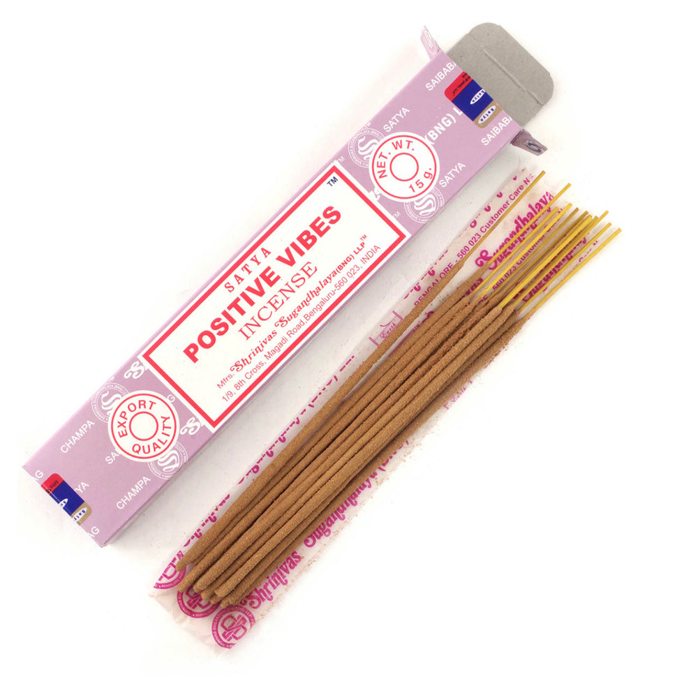 Positive Vibes Incense.