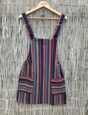 Dungaree Dress - Purple