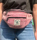 Himalayan Hemp - Money Belt Bag - Pink
