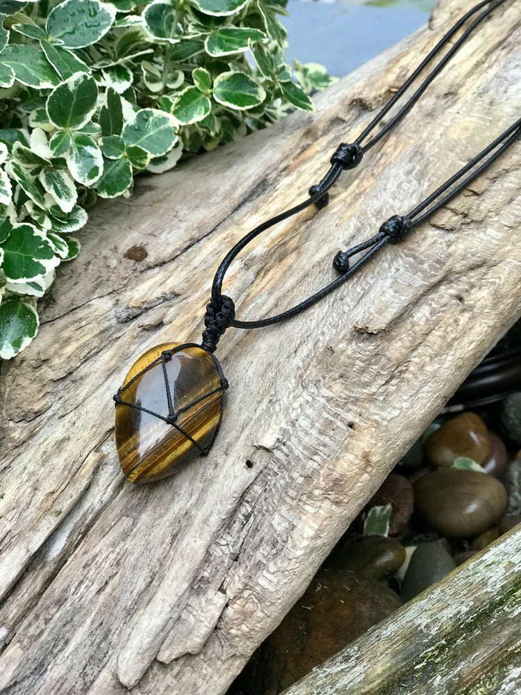 Tigers Eye - Egg Necklace - Adjustable