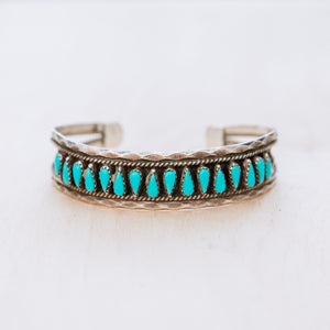 Vintage Navajo Turquoise Cuff
