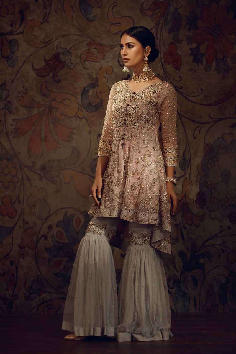 Luxury Pret, Pakistani Fashion Designer EMBROIDERED PASTEL PINK - Phatyma Khan