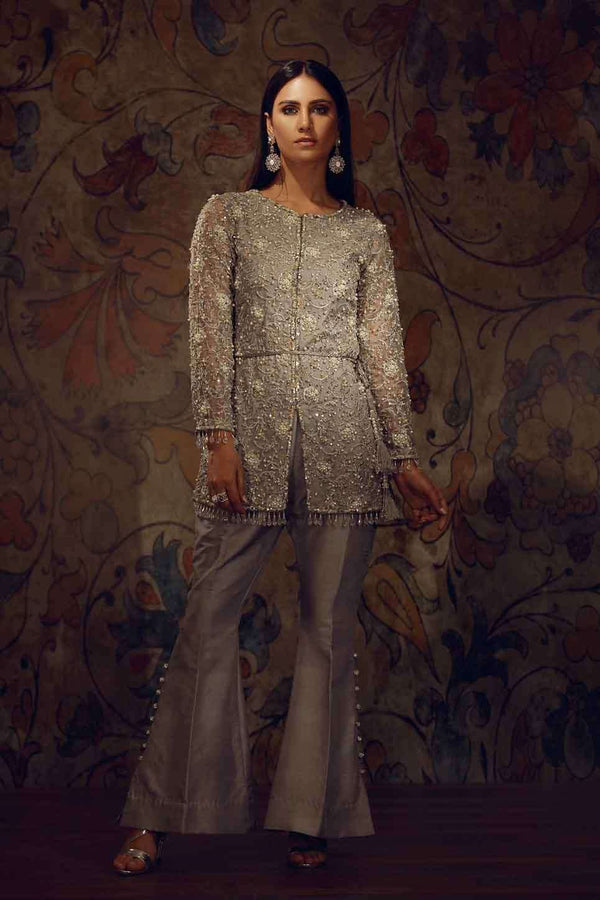 EMBROIDERED SILVER GREY-Phatyma Khan-[Luxury_Pret]-[Pakistani_Fashion_Desginer]-[Women_Fashion_Brand]