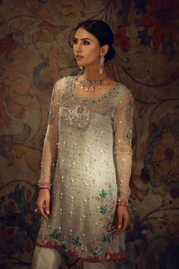 Luxury Pret, Pakistani Fashion Designer GREEN HANDWORK - Phatyma Khan