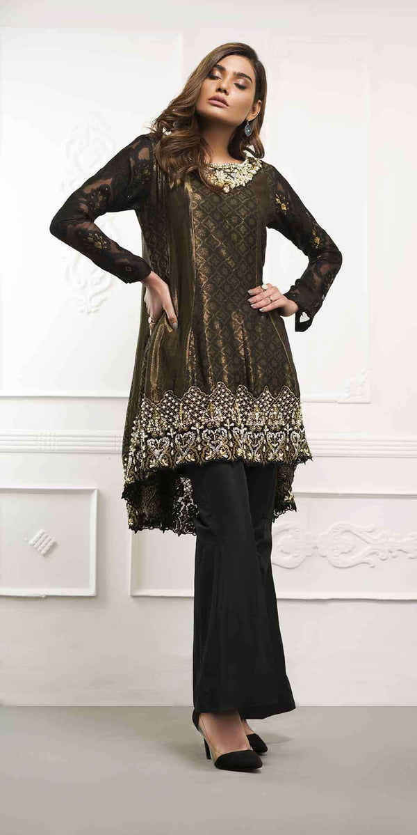BLACK PEPLUM - Ready To Deliver-Phatyma Khan-[Luxury_Pret]-[Pakistani_Fashion_Desginer]-[Women_Fashion_Brand]