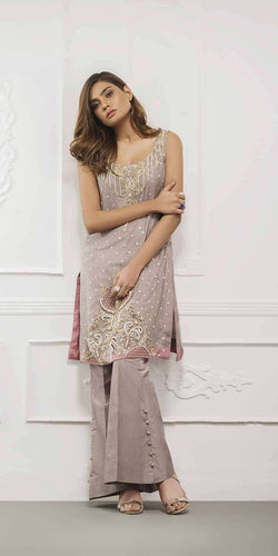 Luxury Pret, Pakistani Fashion Designer ASH PINK - Phatyma Khan
