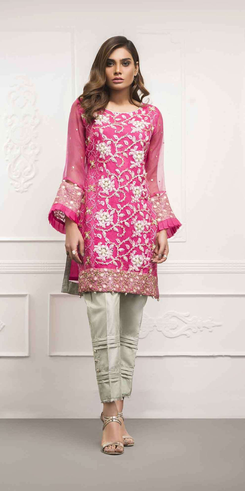 Luxury Pret, Pakistani Fashion Designer FUCHSIA PINK - Phatyma Khan