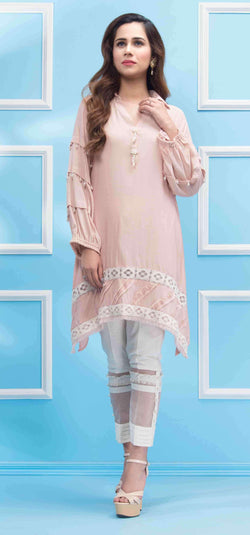 Luxury Pret, Pakistani Fashion Designer BISCUIT PEACH - Phatyma Khan