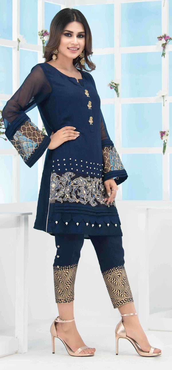 CLASSIC BLUE-Phatyma Khan-[Luxury_Pret]-[Pakistani_Fashion_Desginer]-[Women_Fashion_Brand]