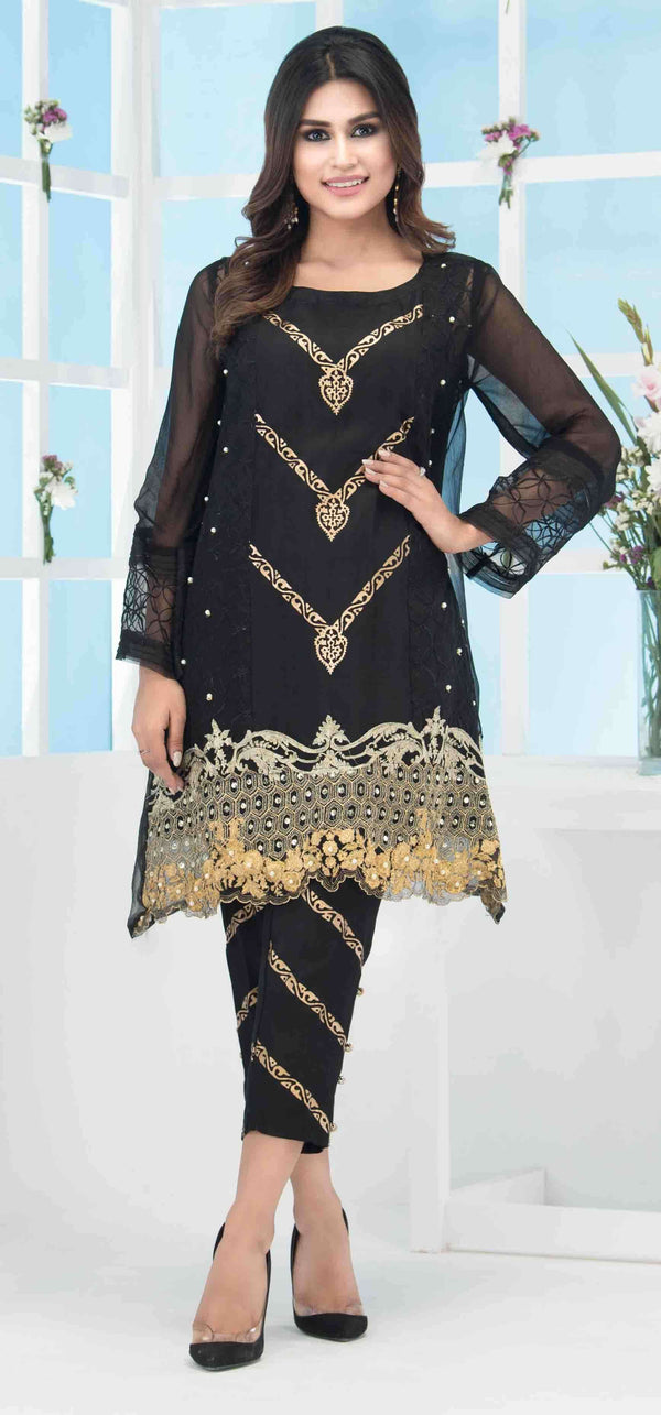 Luxury Pret, Pakistani Fashion Designer BLACK BLOCK - Phatyma Khan