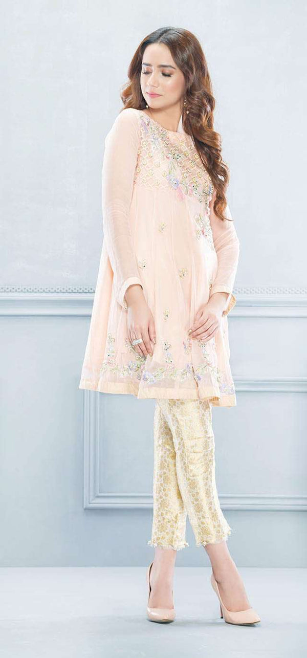 Luxury Pret, Pakistani Fashion Designer HONEY PEACH - Phatyma Khan